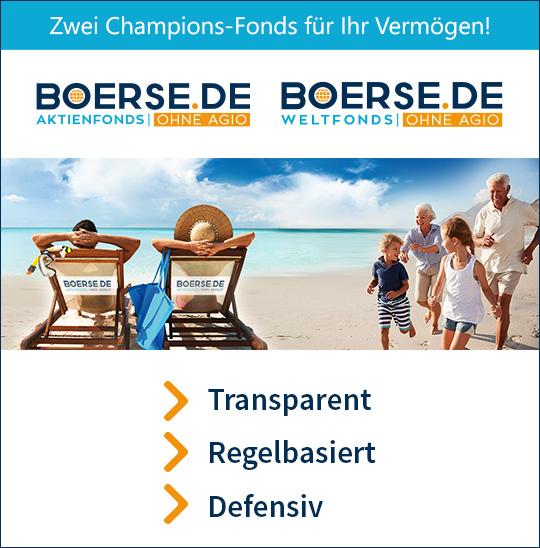 Zwei Fonds für den Vermögensaufbau: boerse.de-Aktienfonds und boerse.de Weltfonds
